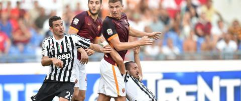 Juventus med tap mot Roma etter to r�de kort