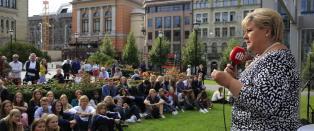 Solberg om regjerings-samarbeidet: - Noen saker gj�r det vanskelig og opphetet