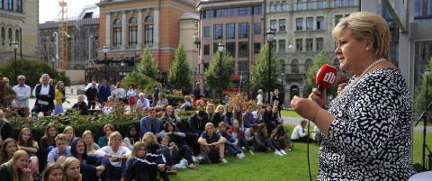 Solberg om Jensens oppfordring til flyktninge-boikott: - Vi skal bosette mye mer enn 8000 syriske flyktninger