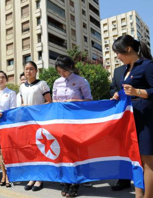 Syria har plutselig bygget en park til �re for Kim Il-sung midt i Damaskus