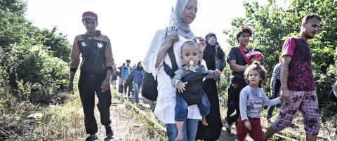 1,5 bistandsmilliarder flyttes til flyktningkrisen