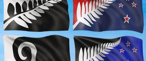 N� kan New Zealands innbyggere velge velge et av disse fire flaggene