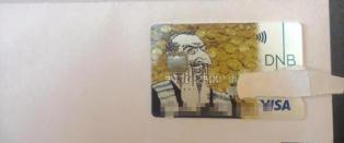 Trykket opp bankkort med �antisemittisk� karikatur. DNB legger seg flate