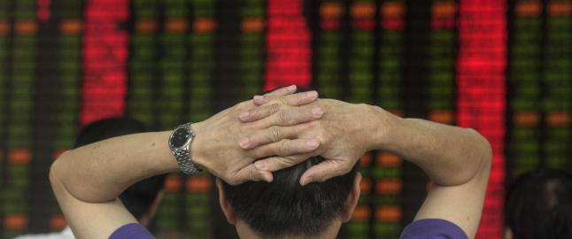 Kinesisk b�rs stuper videre