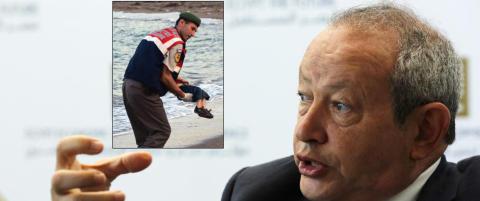 Den egyptiske milliard�ren har sett nok: Sp�r Hellas og Italia om � f� kj�pe �y for � huse flyktninger
