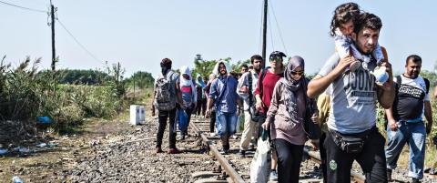 Over fire millioner syrere er p� flukt i n�romr�dene. De rike gulfstatene tar imot null
