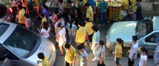 I kinesisk by har de fleste menn tre kj�rester hver