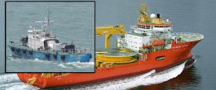Norsk offshore-skip bordet av v�pnede menn fra �Nigeria-b�t�