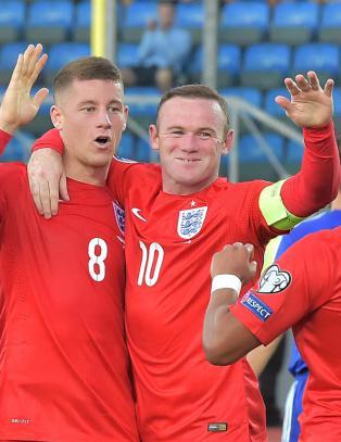Rooney tangerte legendarisk rekord da England vant 6-0