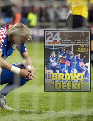 Avis slakter Kroatia. Henger rosa vesker p� spillerne: - Grusomt