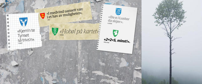 - � tulle med slagordene til norske kommuner er noe av det mest takknemlige en kan gj�re