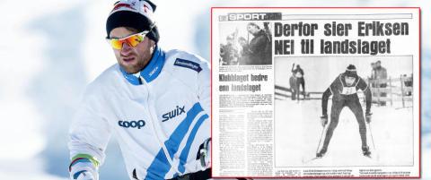 I 1982 risikerte Lars Erik Eriksen det samme som Northug gj�r i dag: Utestengelse fra landslaget