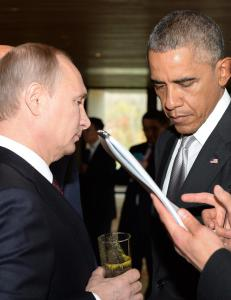 Bare timer f�r de skal m�tes, kaller Putin USAs Syria-politikk for �ulovlig�