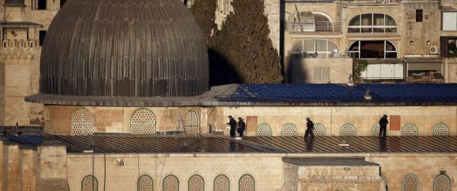 Nye sammenst�t ved al-Aqsa-moskeen i Jerusalem