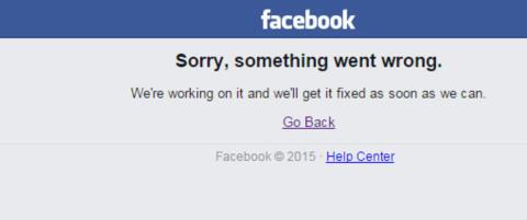 Facebook var nede i nesten en time