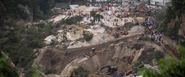 Minst 30 d�de etter jordskred i Guatemala