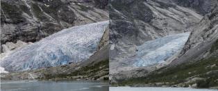 Dramatiske endringer: - Alle isbreene vi m�ler har minket siden �rtusenskiftet