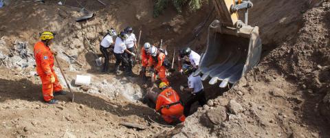 131 d�de etter jordskredet i Guatemala