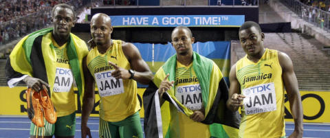 Dopingtatt sprinter hevder hans pr�ver er byttet med   Asafa Powells
