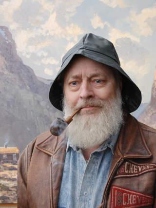 BL�FFMAKEREN: Ivar Kalleberg, her avfotografert i forbindelse med diktsamlingen �Rain Forest Land - Poems from Norway�.