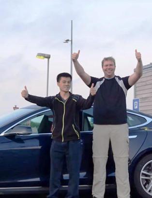 Norske Bj�rn satte elbil-verdensrekord
