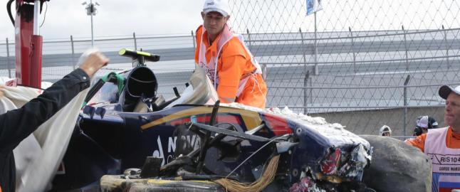 Carlos Sainz jr. uten skader etter treningskrasj