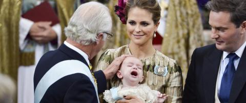 Prins Nicolas skrek seg gjennom d�pen i Stockholm