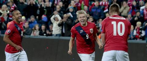 Sverige vil m�te Norge i playoff, mens danskene h�per vi taper i kveld