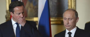 Isfront mellom Putin og Cameron etter flystyrt