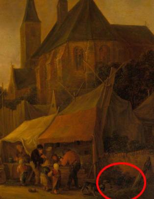 Fant hemmelig sp�k i dronning Elizabeths maleri