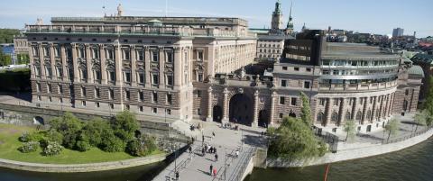 Det er rettet trusler mot Riksdagen og den svenske regjeringen