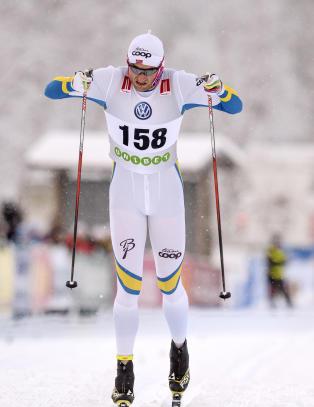 Northug vant i svensk skidrakt