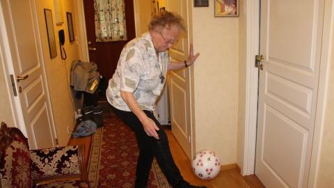 SPREK: �se Marie Nordhagen (90) er ikke som 90-�ringer flest. Foto: Ingvil Bakka/Ryfylke.