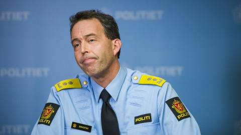 VEST:  Politimester Kaare Songstad. Foto: Fredrik Varfjell / NTB scanpix
