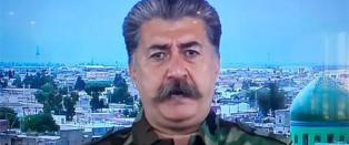 Russerne g�r av skaftet etter � ha sett den kurdiske kommandanten som kjemper mot IS
