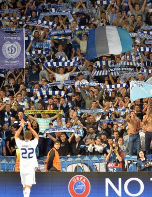 Dinamo Kiev m� spille for tomme tribuner
