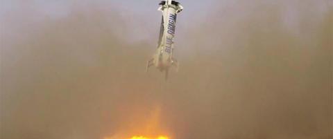 Gjennomf�rte historisk rakett-landing - vil sende turister til verdensrommet