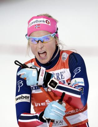 Johaug-bannere stj�let foran verdenscuphelgen p� Lillehammer
