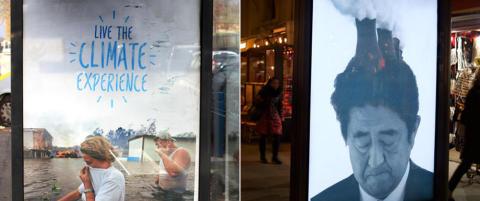 De har kuppet reklame�plakater over hele Paris