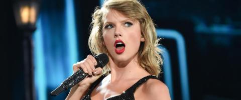 Taylor Swift var tilbake p� Spotify, men det under navnet til pedofiliassosiert band