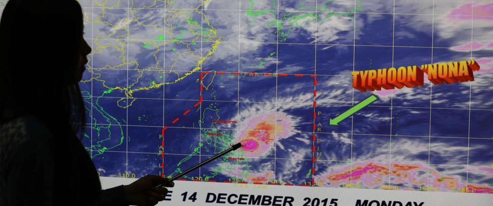 750 000 evakuert f�r tyfonen Melor kommer til Filippinene