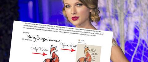 Kunstneren fikk hakeslepp da hun s� hva Taylor Swift la ut