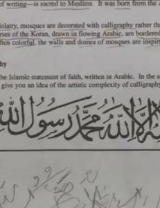Stengte skolene etter at elever fikk i hjemmelekse � skrive den islamske trosbekjennelsen