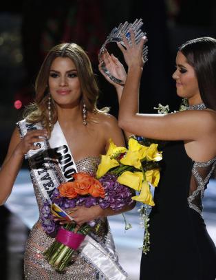Miss Colombia ble kronet til vinner av �rets Miss Universe