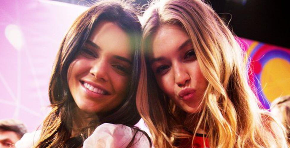 TJENER FETT PÅ INSTAGRAM:  Supermodellene Kendell Jenner (til vestre) og Gigi Hadid har blitt ekstremt attraktive reklameaktører. Foto: NTB Scanpix