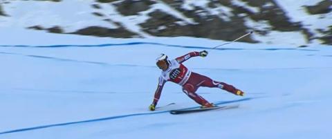Utfordrama: Kilde mistet skia i opp mot 100 km/t