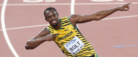 Usain Bolt knuste Lionel Messi
