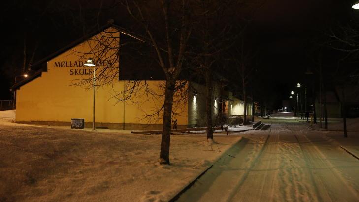 GIKK P� SKOLE HER: Den 13 �r gamle jenta gikk i �ttende klasse p� M�lladammen skole i B�rum. Foto: Jaques Hvistendahl / Dagbladet
