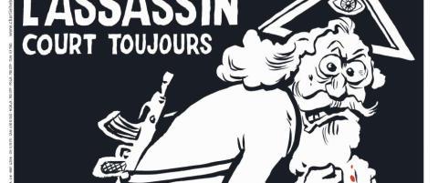 Charlie Hebdo kaller gud «drapsmann på rømmen» og tilgriser ham i blod