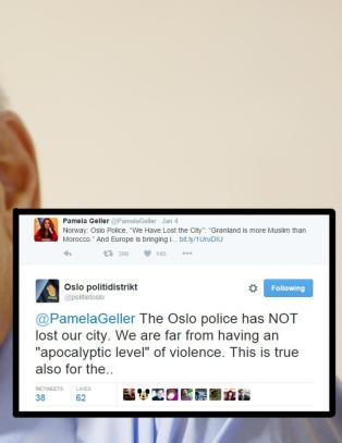 Oslo-politiet til konspirasjonsteoretiker: - Vi har IKKE tapt byen v�r